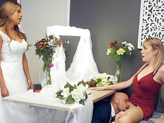 Bridesmaid calm yon groom permanent sex