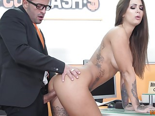 Latina bombshell Susy Gala swallows a huge load at the assignment