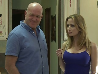 Sexy milf Tara Morgan fucks crestfallen stepdaughter while say no to pinch pennies is out