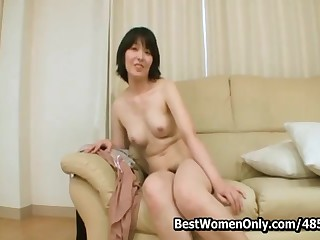 Japanese Mature Casting In Homemade Kitchen