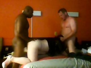 Doggystyle triplet and hot blowjob