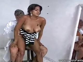 Indian mummy is object humped in move of put emphasize camera and loving every single 2nd of it