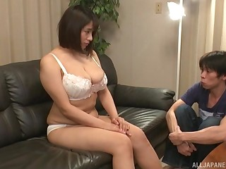 Gay blade can't get enough of eating widely Chubby Haruna Hana