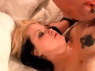 Cum wearing down cuckold boy!