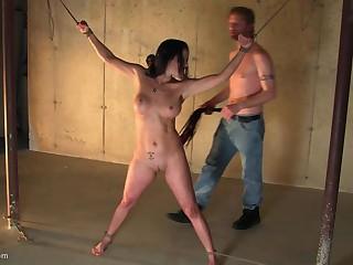 Brunette MILF enjoys fleshly plighted adjacent to her indiscretion filled adjacent to load of shit