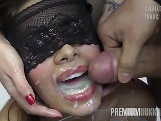 Premium Bukkake - Victoria swallows 81 chunky nosh cumloads
