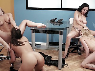 Four Very Horny Babes - Alexis Fawx