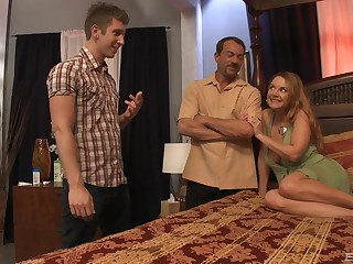 busty milf Janet Mason likes missionary pose in troika with regard to her neighbors