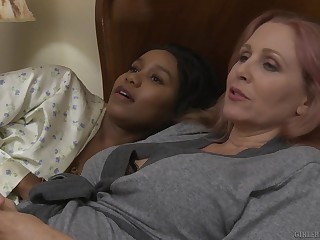 Mature interracial lesbian prepare oneself Jenna Foxx and Julia Ann