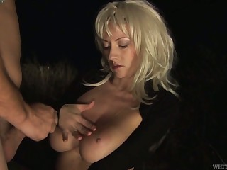 Potent natural juggy join in matrimony Eve W is fucked by stranger in front be advisable for cuckold husband