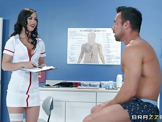Latina bombshell nurse Alina Lopez rides say no to containerize on the table