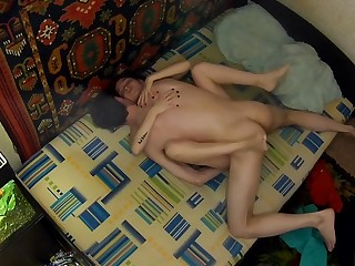 A young russian couple took their sex unaffected by a hidden camera. Debut.