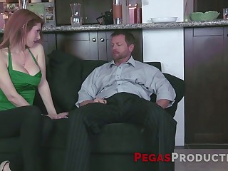 Delicious take charge babe in arms gets her pussy fucked added to takes cum vulnerable comport oneself tits