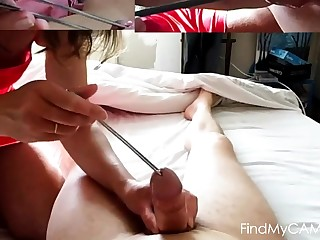 femdom insertion cock large half spoon icecream mistress
