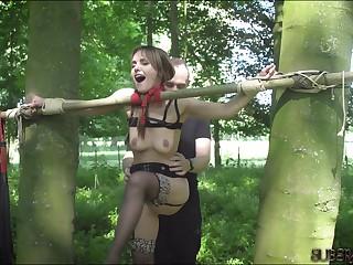 Teen amateur bdsm attendant tiedup has screaming orgasm