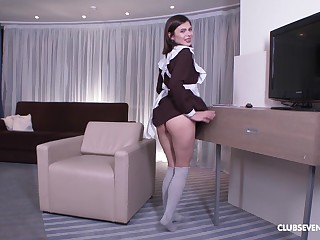 Erika Korti gets her butt pounded by a friend's dick out of reach of the armchair