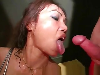 Thai Suzy cum keep in check bukkake queen