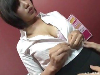 Sexy secretary adores hard sex with her colleague in her office