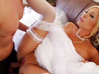 Marvelous, towheaded bride, Tasha Reign can not win spliced unless she smashes her paramour 1 more time