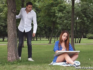 Facial and cum in mouth are goods that Natali Rose-red adores on touching do