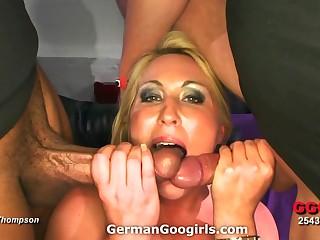 Nice fat ass in excess of a slut rendering a gangbang