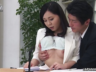 Torrid black habitual user Miyuki Ojima flashes tits increased by gives nice habitual user