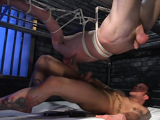 Dirty gay porn in bondage extreme for Tony Orlando and Cliff Jensen