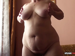 Granny with big special displays her body