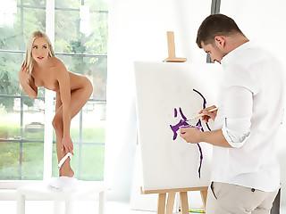 Well-skilled Painter, Masturbator