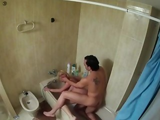 FAKings - Bathroom have sexual intercourse with a spanish blonde