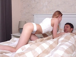 Russian shrunken girlfriend Olivia Westsun gets her pussy fucked and creampied