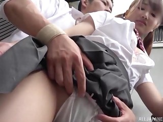 Inconsolable sex with a schoolgirl in A- scenes