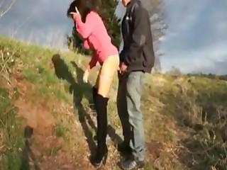 Deutsch Mädchen get creampie tolerant fuckt im outdoor Freien und get creampied