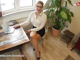 Teen incarcerate fucks her coworker in the office
