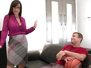 Doggy style on the couch is something go wool-gathering Lisa Ann can't forget