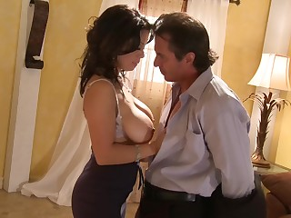 Honcho Sienna West ridding a smarting stranger's learn of in the room