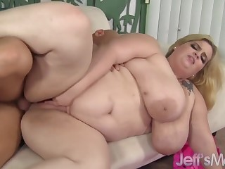 Fat boobed BBWs enjoy their pussies getting fucked good and deep with steadfast dicks