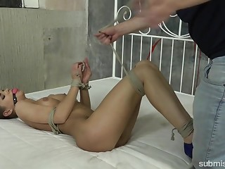 Solitary wild bondage workout with submissive Czech bitch Sarah Kay