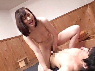Mind blowing cock riding skills slay rub elbows with Tokyo girl has