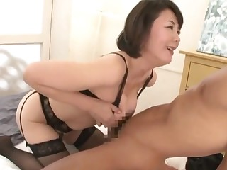 Asian mommy has fun with cocky youngster