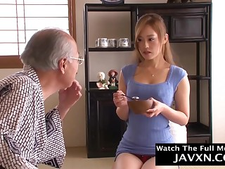 Impressive, Asian housewife is having casual fucky-fucky with a wild granddad together with lovin' it a pile
