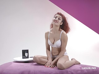 Erotic redhead Dana Santo loves to test new sex toys for you
