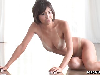 Tan lines are sexy and become absent-minded tanned Asian cutie gives nonpareil blowjobs