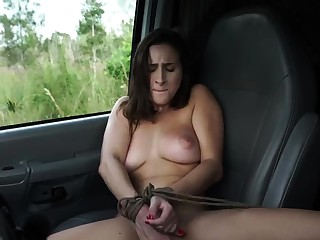 French maid bondage with an increment of huge dildo domination This new