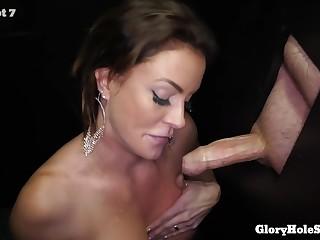 Bitch will participate close by her first gloryhole