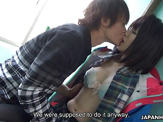 Japanese sailor girl Sena Sakura squirts riding hard dick added to gets her pussy creampied