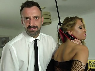 Blonde slut Joanna Bujoli pleasured with a dick together with a vibrator