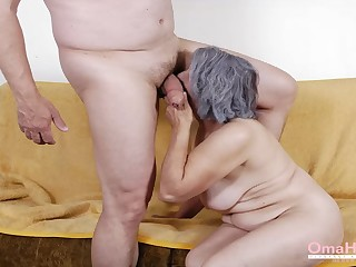 OmaHoteL Granny Making love Practices Compilation Video