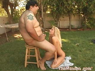 Fat dude with a small bushwa fucks hot pest blondie Tiffany Six