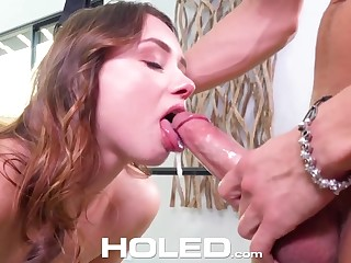 Bitch with butt plug Taylor Sands gets fucked on sex swings